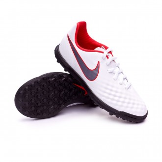 Tenis  Nike Magista ObraX II Club Turf Niño White-Metallic cool grey-Light crimson