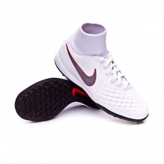 Zapatilla  Nike Magista ObraX II Academy DF Turf Niño White-Metallic cool grey-Light crimson