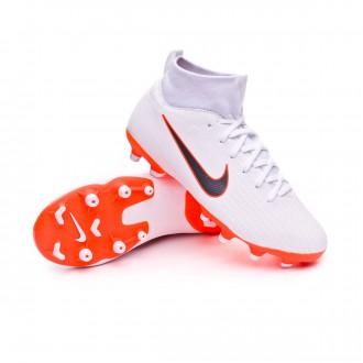 Bota  Nike Mercurial Superfly VI Academy GS MG Niño White-Metallic cool grey-Total orange