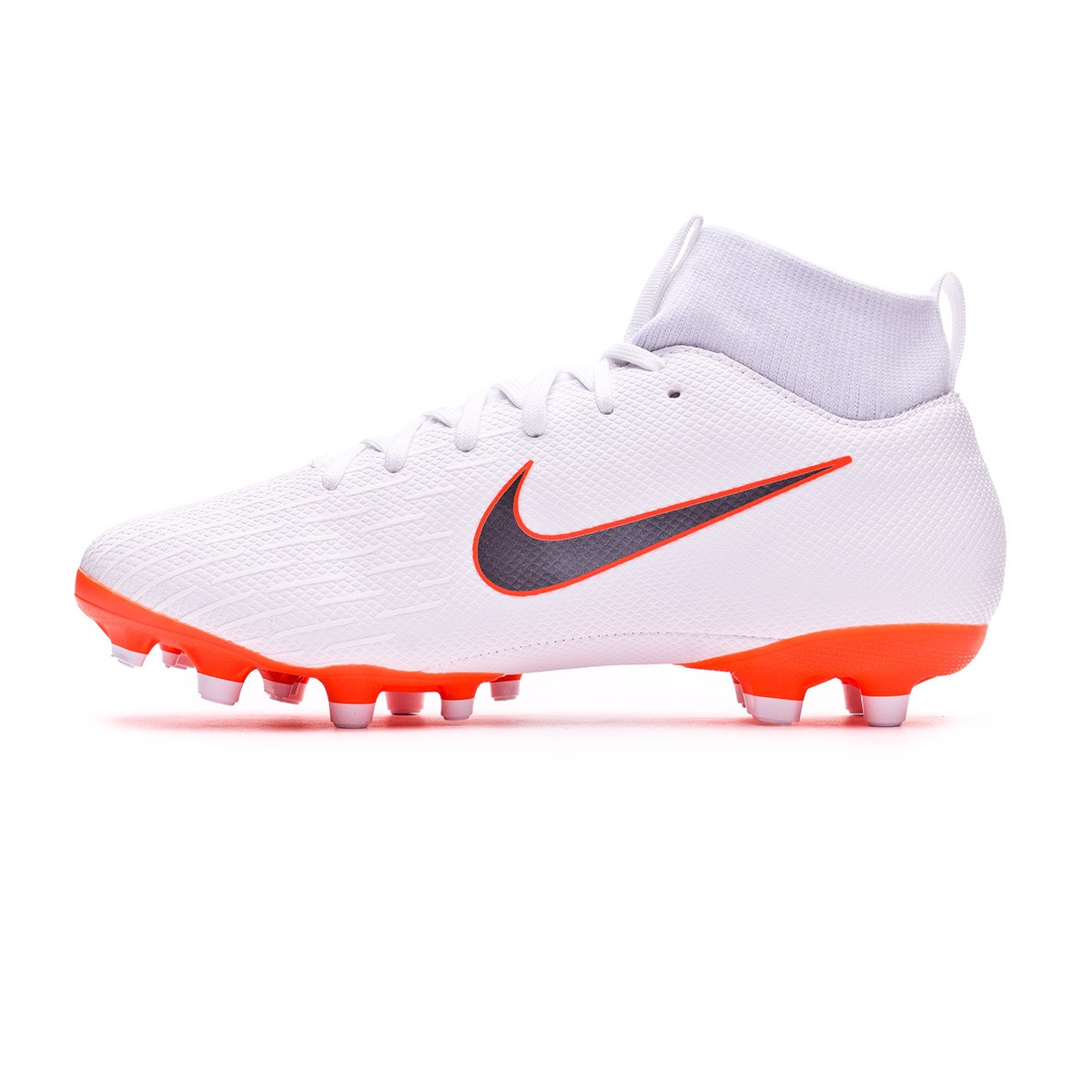 084ec2895386 Football Boots Nike Kids Mercurial Superfly VI Academy GS MG White-Metallic  cool grey-Total orange - Tienda de fútbol Fútbol Emotion