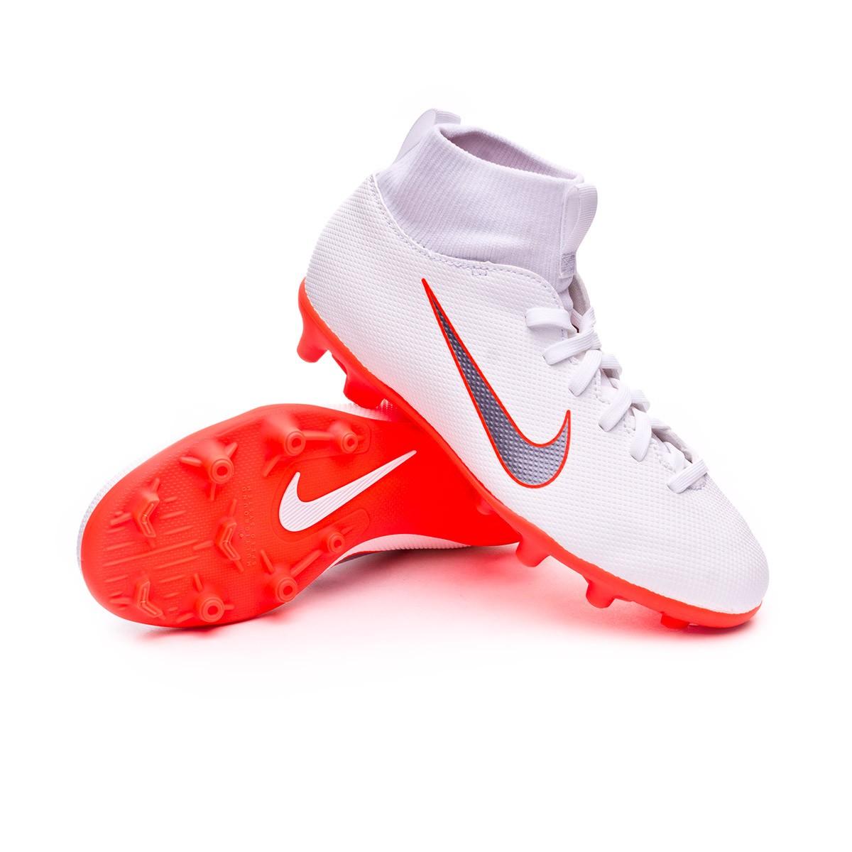 99557c165d7eb Football Boots Nike Kids Mercurial Superfly VI Club MG White ...