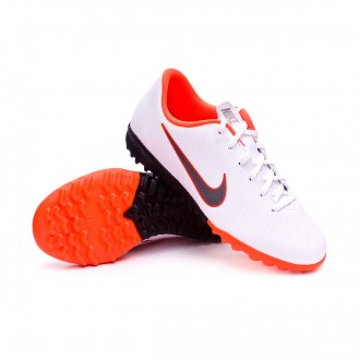 Chaussure de football  Nike Mercurial VaporX XII Academy GS Turf enfant White-Metallic cool grey-Total orange