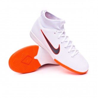 Zapatilla  Nike Mercurial SuperflyX VI Academy GS IC Niño White-Metallic cool grey-Total orange