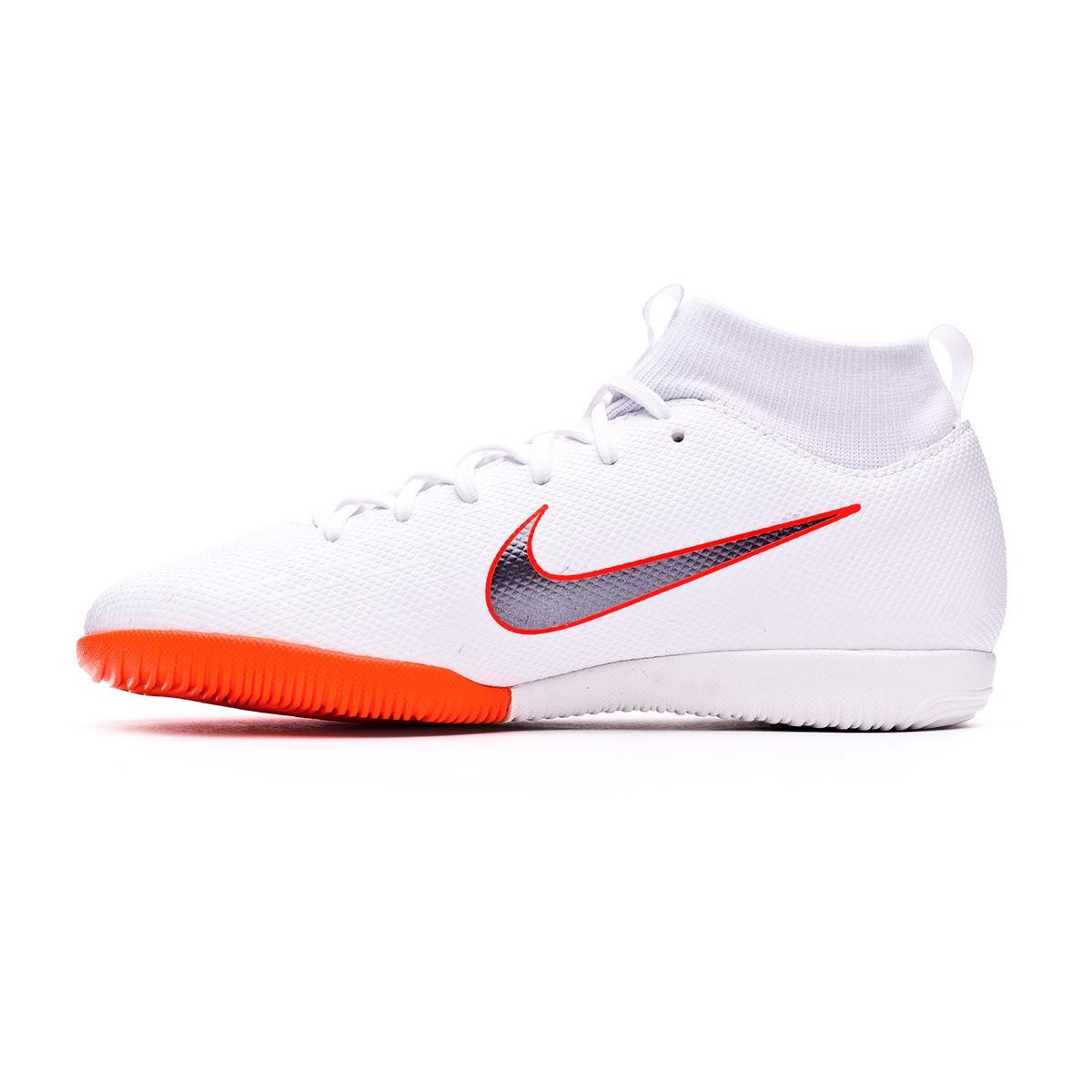 747cece70c29 Futsal Boot Nike Kids Mercurial SuperflyX VI Academy GS IC White-Metallic  cool grey-Total orange - Football store Fútbol Emotion