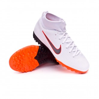 Zapatilla  Nike Mercurial SuperflyX VI Academy GS Turf Niño White-Metallic cool grey-Total orange