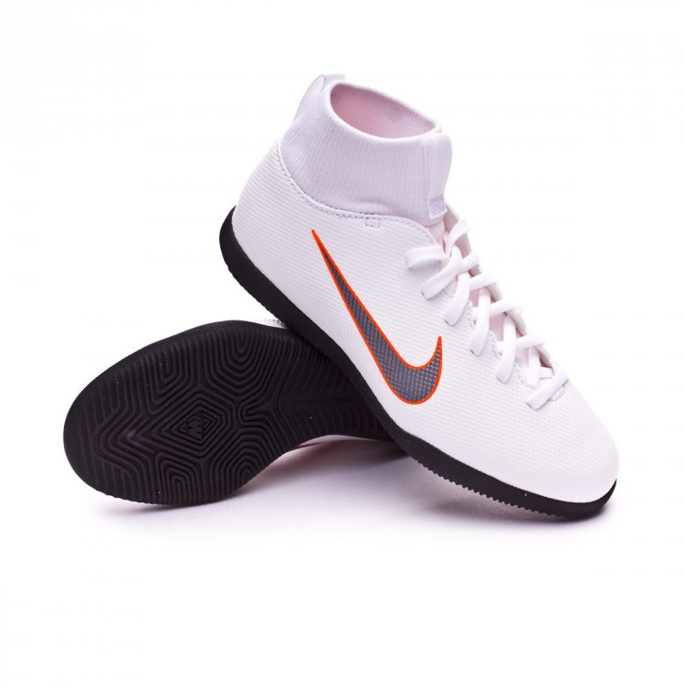 e7602622eddbe Zapatilla Nike Mercurial SuperflyX VI Club IC Niño White-Metallic ...