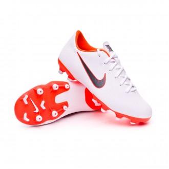Chaussure de football  Nike Mercurial Vapor XII Academy GS MG enfant White-Metallic cool grey-Total orange