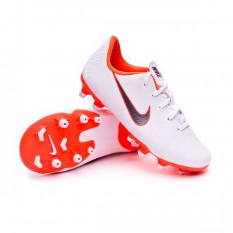 Bota  Nike Mercurial Vapor XII Academy PS MG Niño White-Metallic cool grey-Total orange