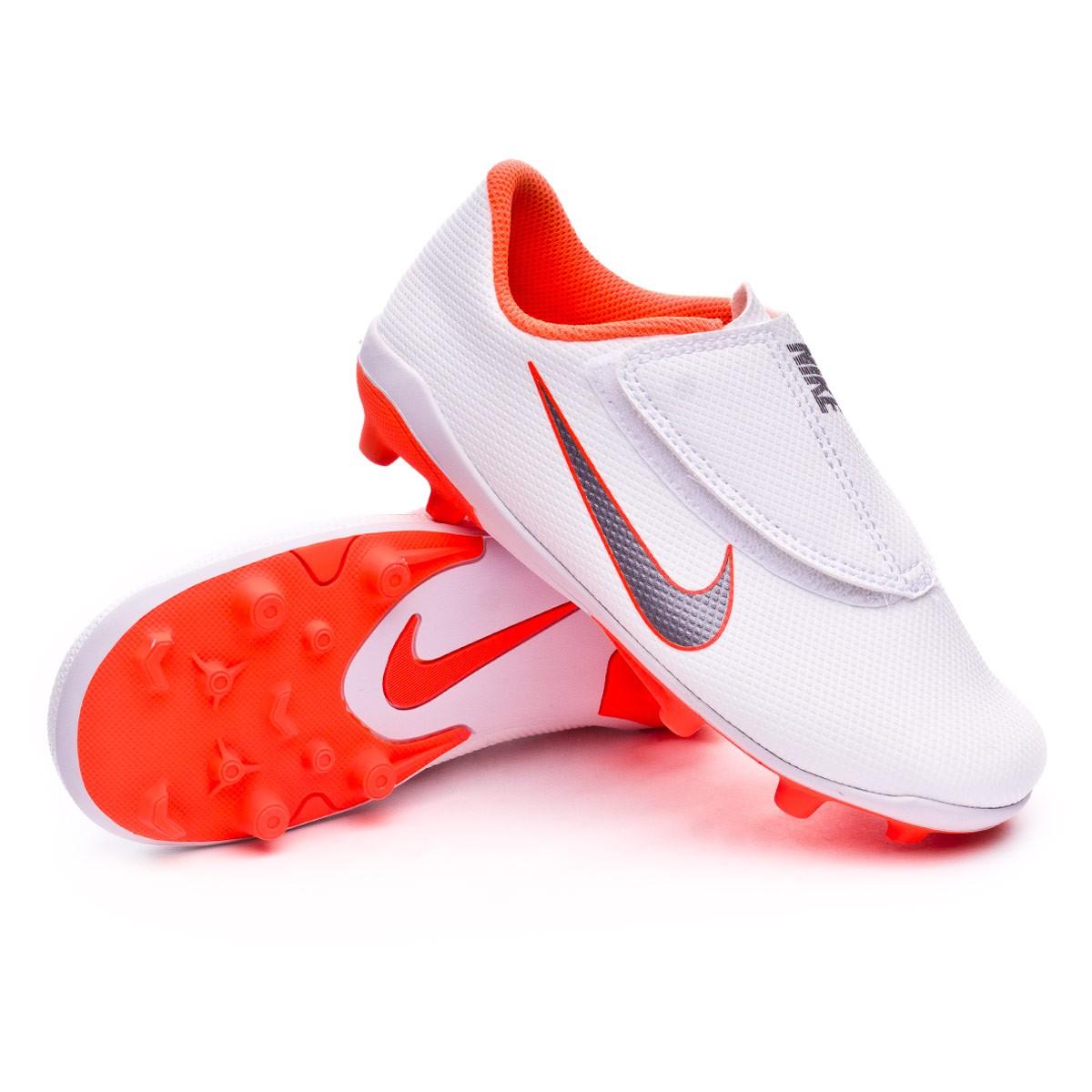 new style 079d7 848f0 Zapatos de fútbol Nike Mercurial Vapor XII Club PS Velcro MG Niño  White-Metallic cool grey-Total orange - Tienda de fútbol Fútbol Emotion