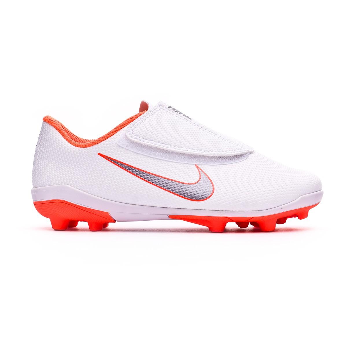 4c2c02a0323 Football Boots Nike Kids Mercurial Vapor XII Club PS Velcro MG  White-Metallic cool grey-Total orange - Tienda de fútbol Fútbol Emotion