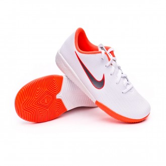 Zapatilla  Nike Mercurial VaporX XII Academy PS IC Niño White-Metallic cool grey-Total orange