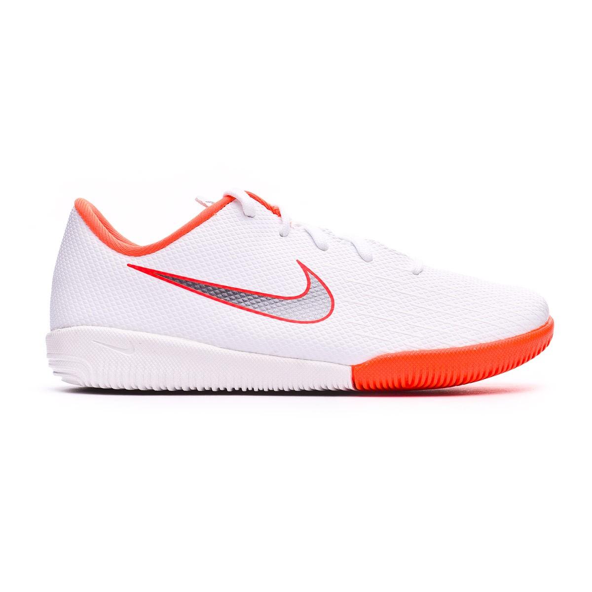 fe9e5eb8a41 Futsal Boot Nike Kids Mercurial VaporX XII Academy PS IC White-Metallic  cool grey-Total orange - Football store Fútbol Emotion