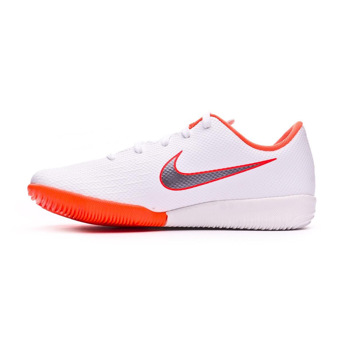 45c396b4e Futsal Boot Nike Kids Mercurial VaporX XII Academy PS IC White-Metallic  cool grey-Total orange - Football store Fútbol Emotion