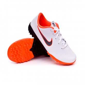 Zapatilla  Nike Mercurial VaporX XII Academy PS Turf Niño White-Metallic cool grey-Total orange