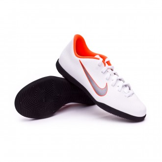 Zapatilla  Nike Mercurial VaporX XII Club GS IC Niño White-Metallic cool grey-Total orange