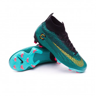 Boot  Nike Kids Mercurial Superfly VI Elite CR7 FG Clear jade-Metallic vivid gold-Black