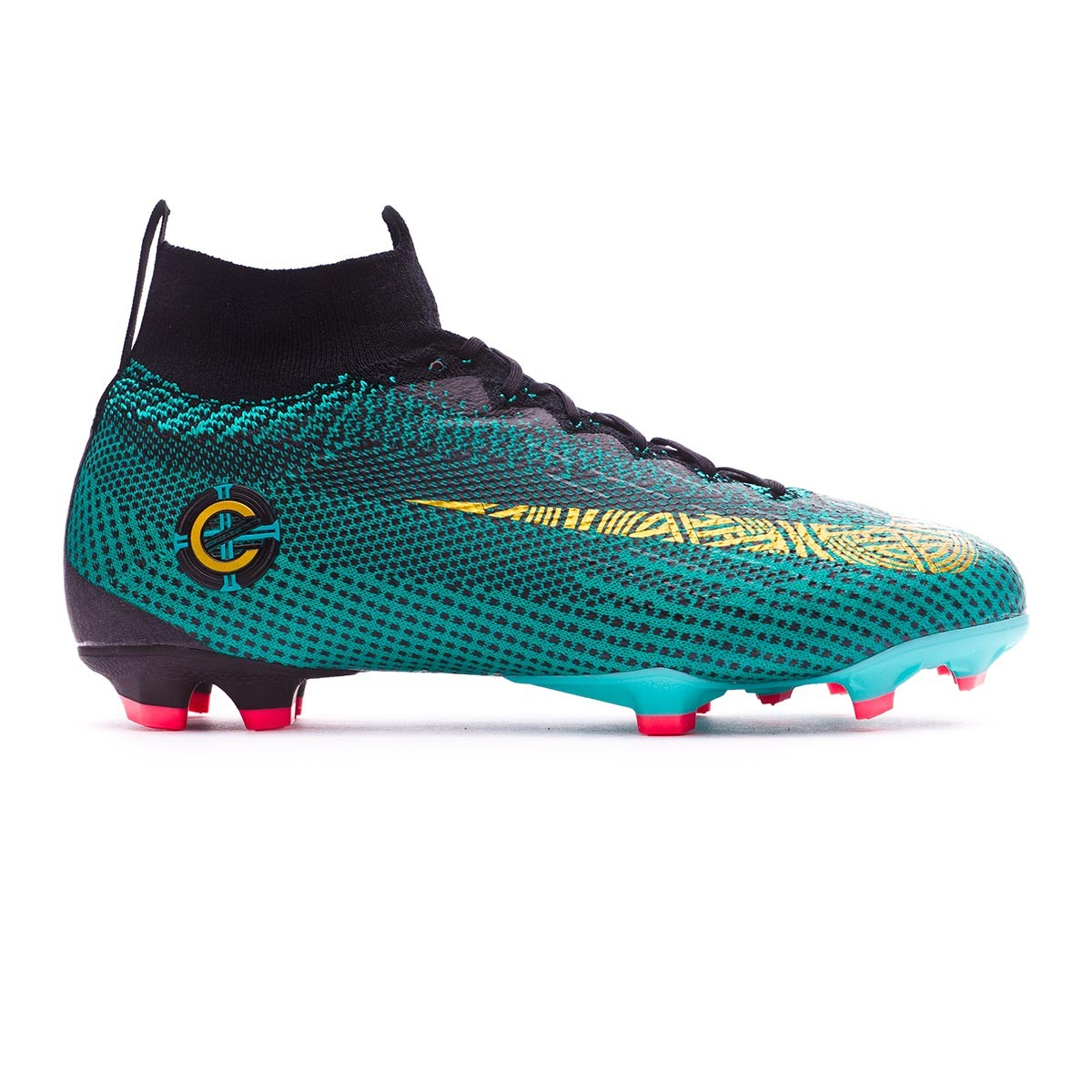 d88057357 Football Boots Nike Kids Mercurial Superfly VI Elite CR7 FG Clear jade-Metallic  vivid gold-Black - Tienda de fútbol Fútbol Emotion