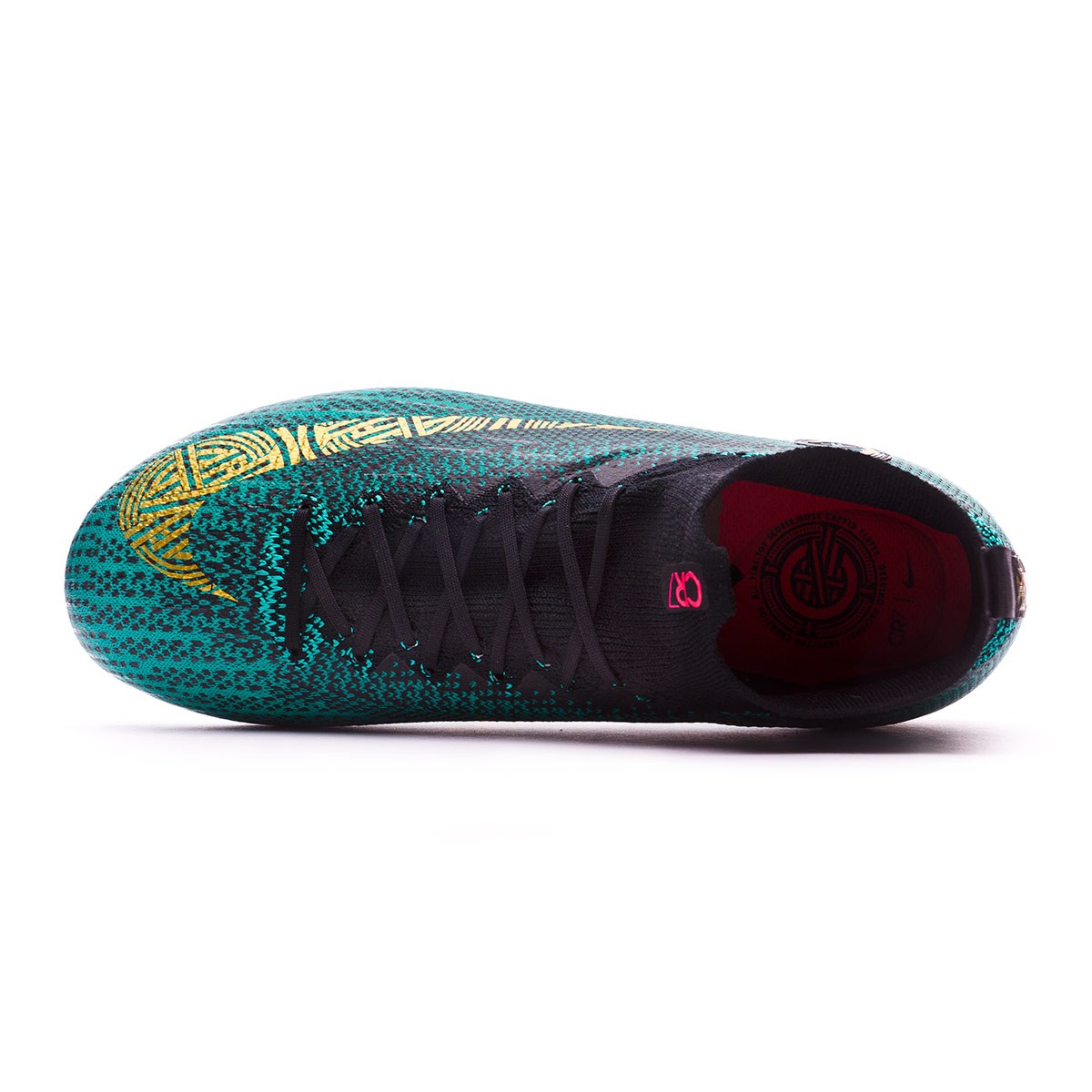 4b56f9569 Football Boots Nike Kids Mercurial Superfly VI Elite CR7 FG Clear jade-Metallic  vivid gold-Black - Tienda de fútbol Fútbol Emotion
