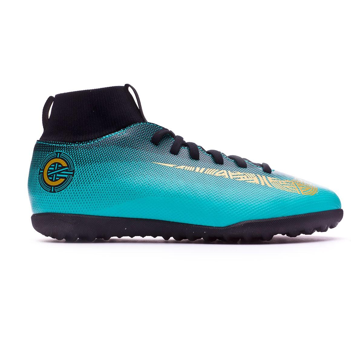 a2d2eabbfdb Sapatilhas Nike Mercurial SuperflyX VI Club CR7 Turf Crianças Clear  jade-Metallic vivid gold-Black - Loja de futebol Fútbol Emotion