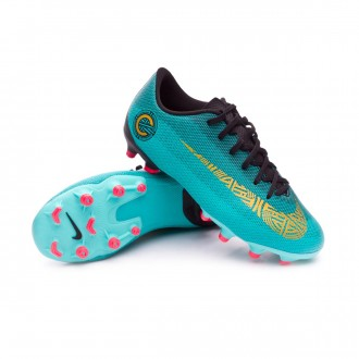 Bota  Nike Mercurial Vapor XII Academy GS CR7 MG Niño Clear jade-Metallic vivid gold-Black