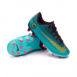 Bota  Nike Mercurial Vapor XII Academy PS CR7 MG Niño Clear jade-Metallic vivid gold-Black
