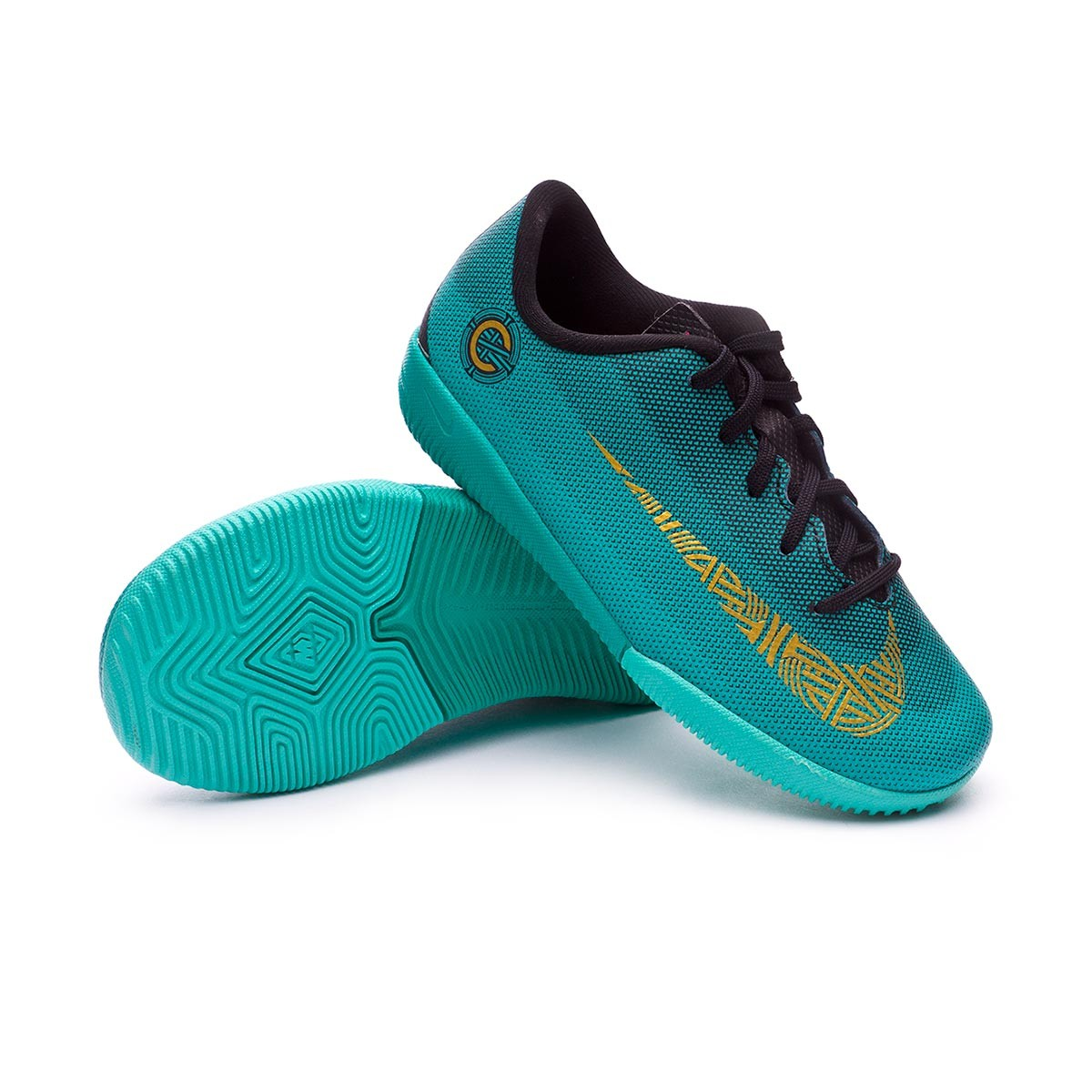 sports shoes d5f9c 8d00c Tenis Nike Mercurial VaporX XII Academy PS CR7 IC Niño Clear jade-Metallic  vivid gold-Black - Tienda de fútbol Fútbol Emotion