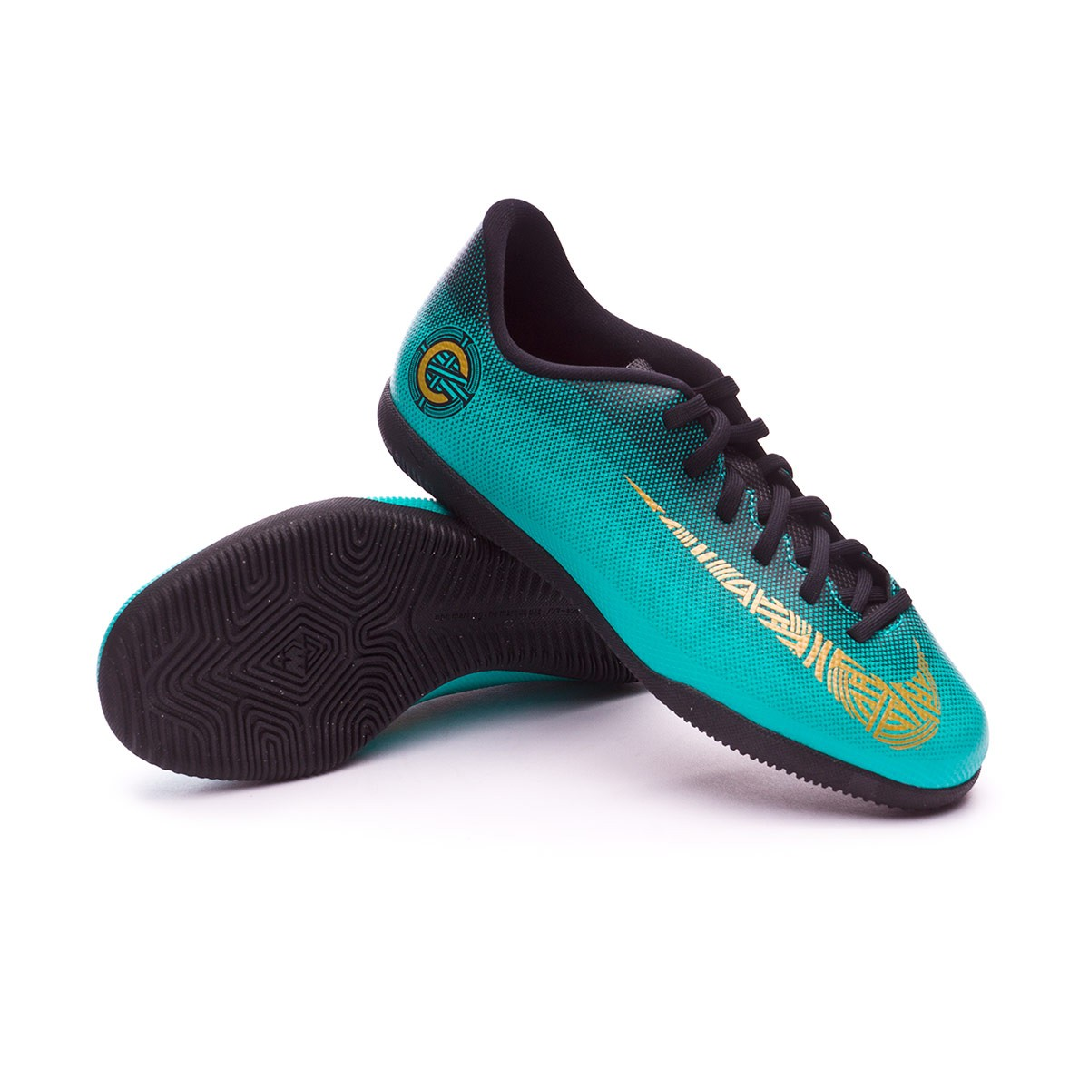 6980d6e1 Zapatilla Nike Mercurial VaporX XII Club GS CR7 IC Niño Clear jade-Metallic  vivid gold-Black - Tienda de fútbol Fútbol Emotion