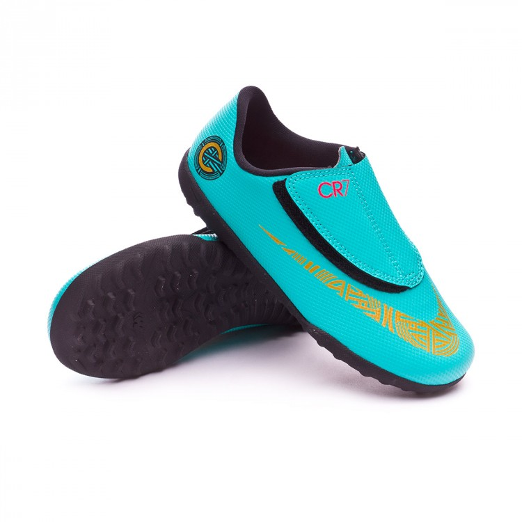 Clear Vaporx Zapatilla Vivid Black Velcro Xii Cr7 Turf Mercurial Metallic Ps Gold Jade Niño Club hxrtBsdCQ