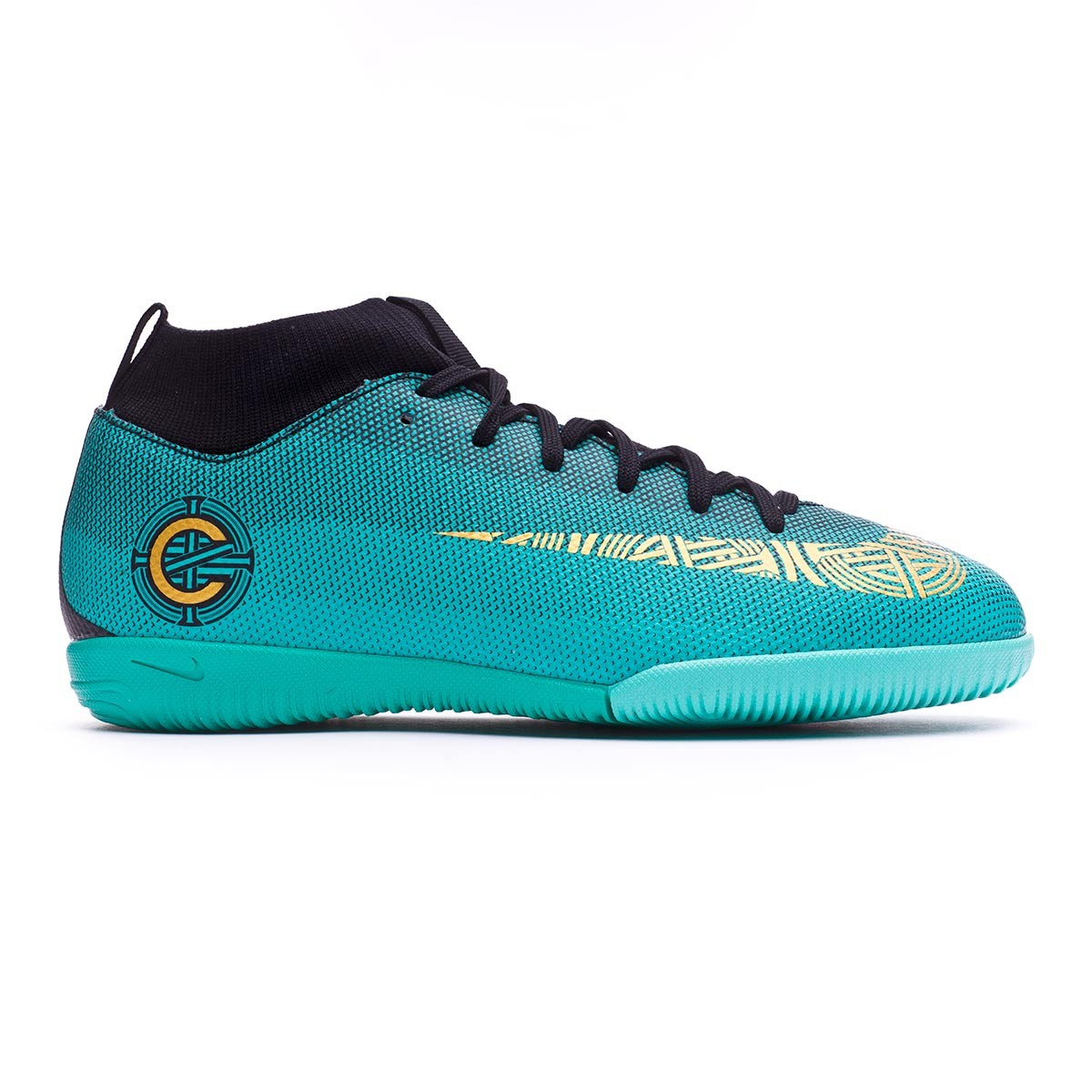 91a1f0ab9 ... Zapatilla Nike Mercurial Superfly VI Academy GS CR7 IC Niño Clear jade-Metallic  vivid gold ...