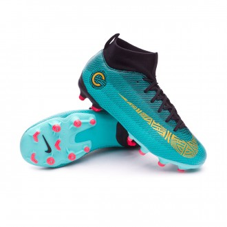 Bota  Nike Mercurial Superfly VI Academy GS CR7 MG Niño Clear jade-Metallic vivid gold-Black