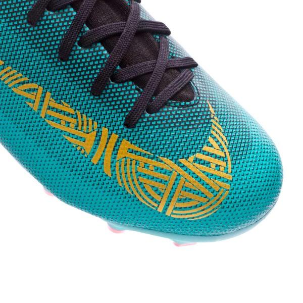 b4b84f5734ac9 Football Boots Nike Kids Mercurial Superfly VI Academy GS CR7 MG Clear jade-Metallic  vivid gold-Black - Tienda de fútbol Fútbol Emotion