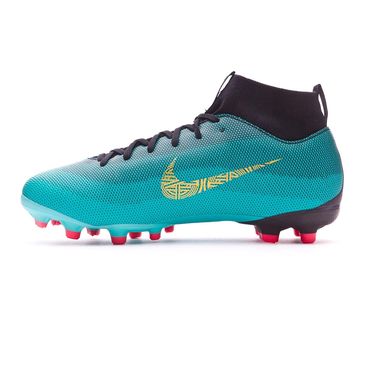 the best attitude 18ed0 b9997 Scarpe Nike Mercurial Superfly VI Academy GS CR7 MG Junior Clear  jade-Metallic vivid gold-Black - Negozio di calcio Fútbol Emotion