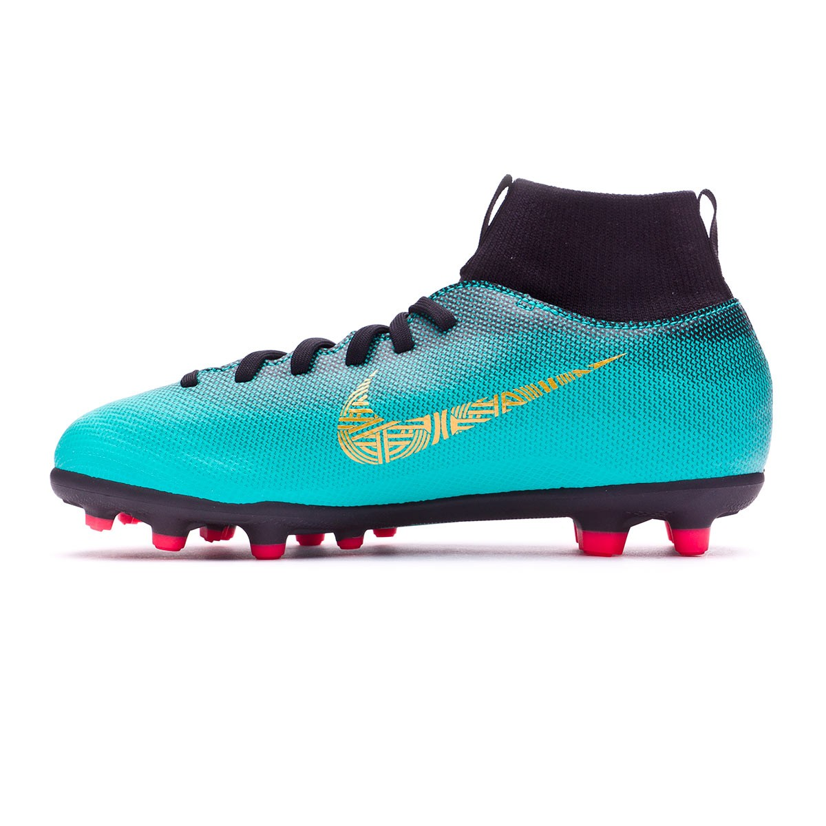 Bota de fútbol Nike Mercurial Superfly VI Club CR7 MG Niño Clear  jade-Metallic vivid gold-Black - Soloporteros es ahora Fútbol Emotion 23d5daa50ef9a