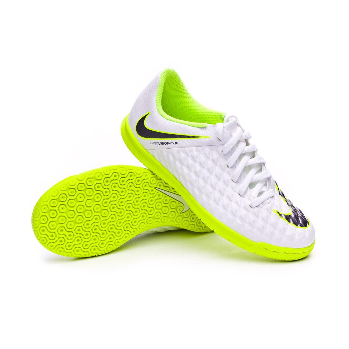 09b99fed9 Futsal Boot Nike Kids Hypervenom PhantomX III Club IC White-Metallic ...