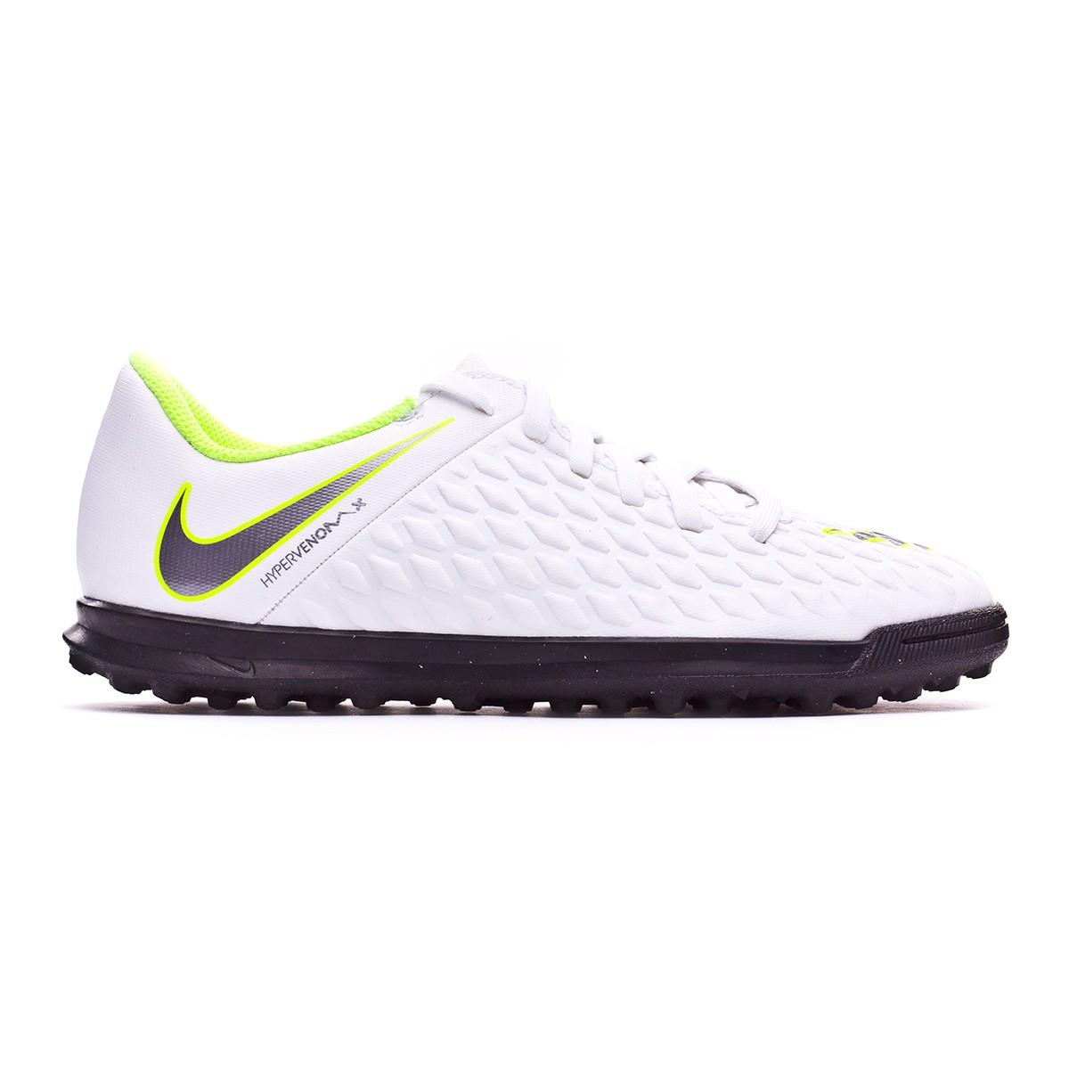a6a908c24 Football Boot Nike Kids Hypervenom PhantomX III Club Turf White-Metallic  cool grey-Volt-Metallic cool g - Tienda de fútbol Fútbol Emotion