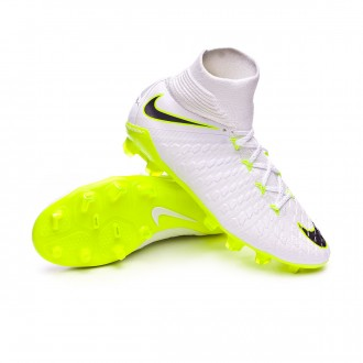 Bota  Nike Hypervenom Phantom III Elite DF FG Niño White-Metallic cool grey-Volt-Metallic cool g