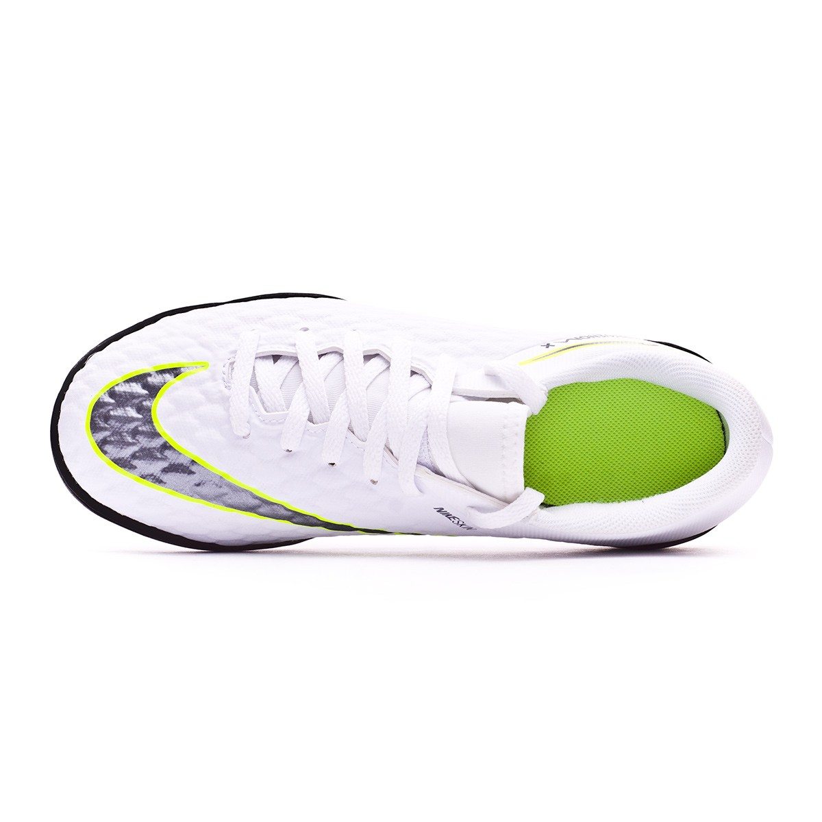 hot sale online cb03d ed51c Zapatilla Hypervenom PhantomX III Academy Turf Niño White-Metallic cool  grey-Volt-Metallic cool g