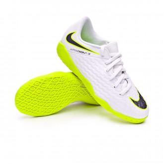 Chaussure de futsal Nike Hypervenom PhantomX III Academy IC enfant  White-Metallic cool grey-