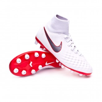 Zapatos de fútbol  Nike Magista Obra II Academy DF AG-Pro Niño White-Metallic cool grey-Light crimson