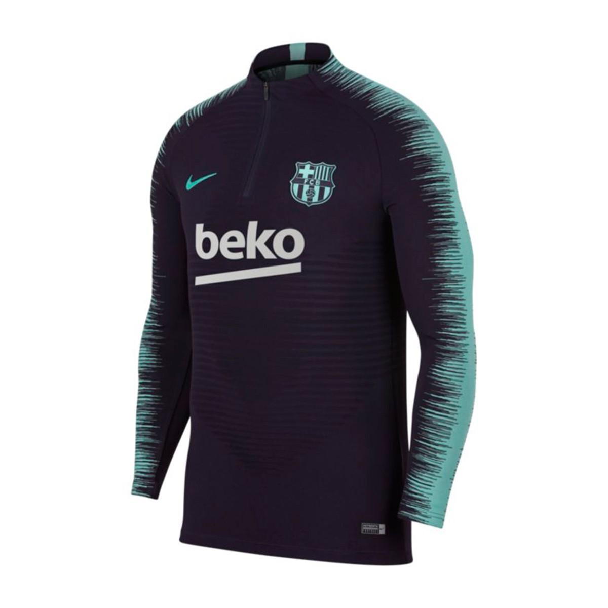 cd4a40a6edc07 Sudadera Nike FC Barcelona VaporKnit Strike 2018-2019 Purple dynasty-Hyper  turquoise - Tienda de fútbol Fútbol Emotion