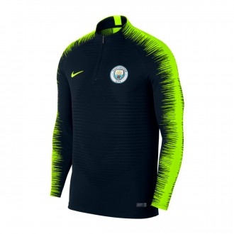 Sweatshirt  Nike Manchester City FC VaporKnit Strike 2018-2019 Dark obsidian-Volt