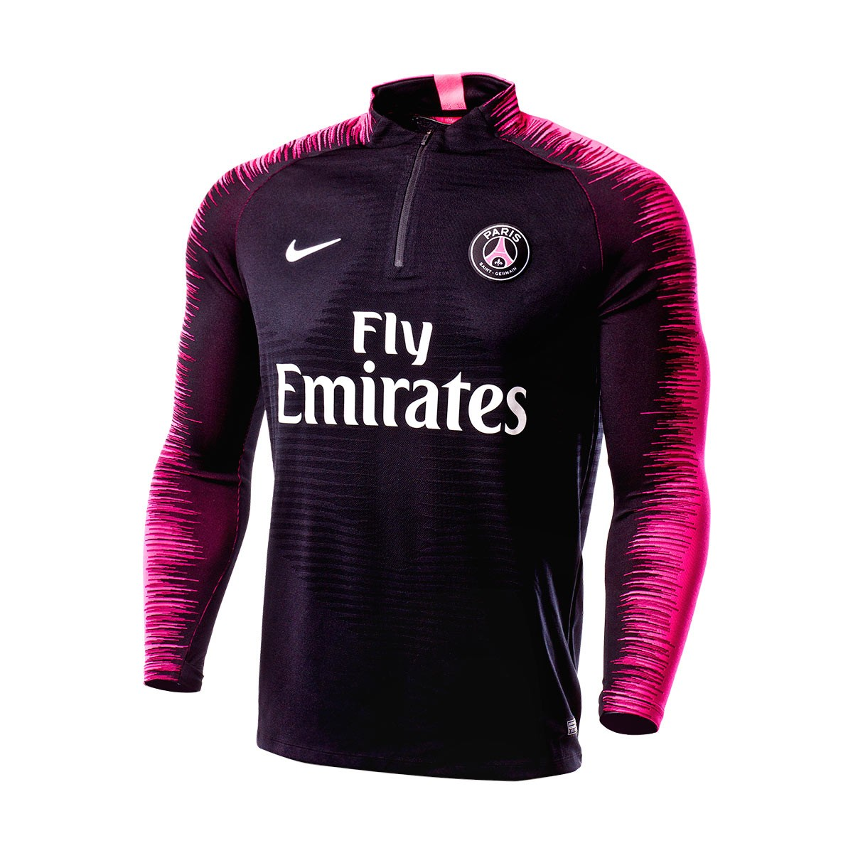 16347488 Sweatshirt Nike Paris Saint-Germain VaporKnit Strike 2018-2019 Black-Hyper  pink-White - Football store Fútbol Emotion