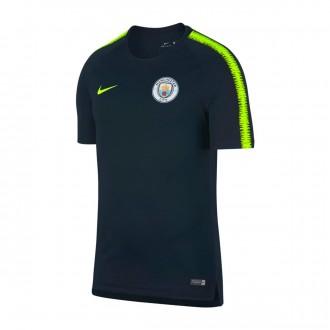 Camisola  Nike Manchester City FC Squad 2018-2019 Dark obsidian-Volt