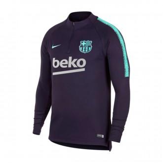 Sudadera  Nike FC Barcelona Dry Squad 2018-2019 Purple dynasty-Hyper turquoise