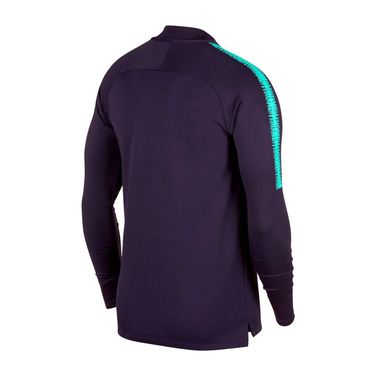 66c32f5ca Sweatshirt Nike FC Barcelona Dry Squad 2018-2019 Purple dynasty-Hyper  turquoise - Tienda de fútbol Fútbol Emotion