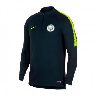 Sweatshirt  Nike Manchester City FC Dry Squad 2018-2019 Dark obsidian-Volt