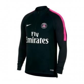 Sudadera  Nike Paris Saint-Germain Dry Squad 2018-2019 Black-Hyper pink-White