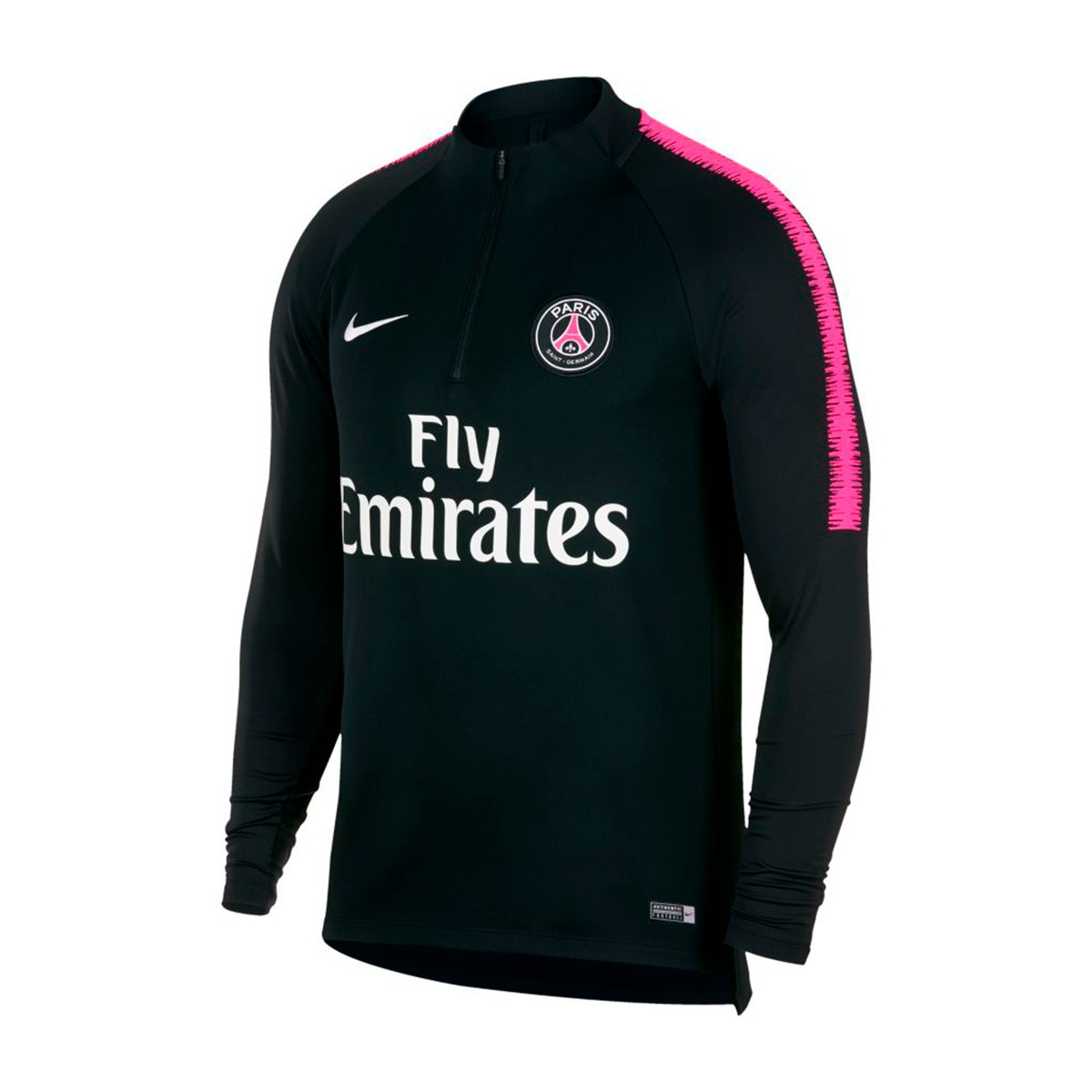 sweat nike paris saint germain dry squad 2018 2019 black hyper pink white boutique de football. Black Bedroom Furniture Sets. Home Design Ideas