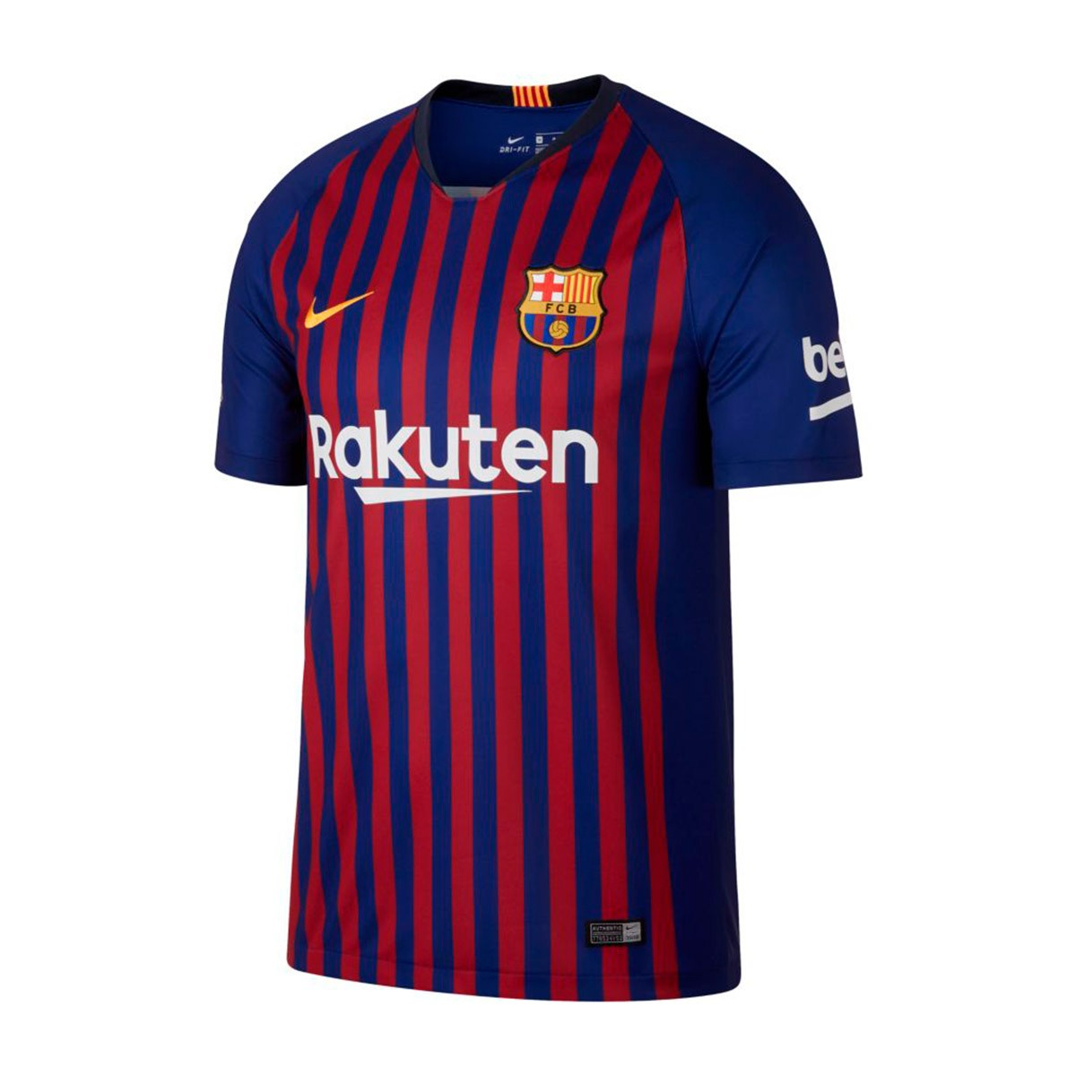 815cfbd3d2802 Camiseta Nike FC Barcelona Stadium Primera Equipación 2018-2019 Deep royal  blue-University gold - Tienda de fútbol Fútbol Emotion