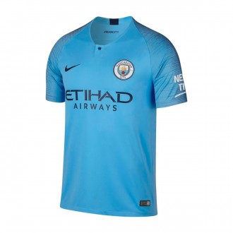 Camiseta  Nike Manchester City FC Stadium Primera Equipación 2018-2019 Field blue-Midnight navy